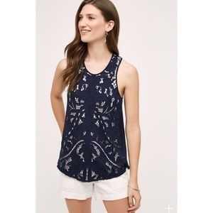 Anthro Akemi + Kin Filigree Lace Tank Top